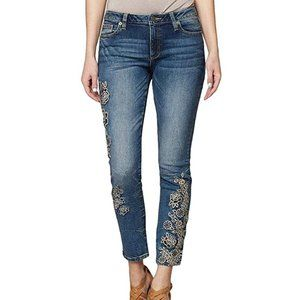 NWT Miss Me Embroidered Ankle Skinny Jeans